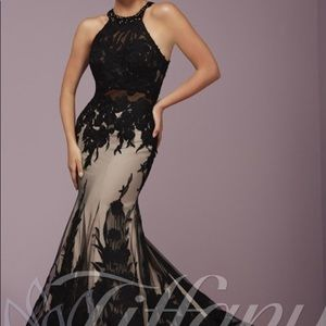 Tiffany designs black prom dress